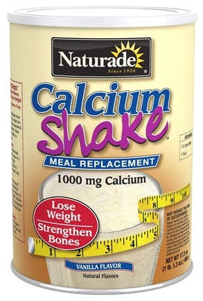 DROPPED: Naturade - Calcium Shake Meal Replacement Vanilla 1000 mg. - 17.3 oz.