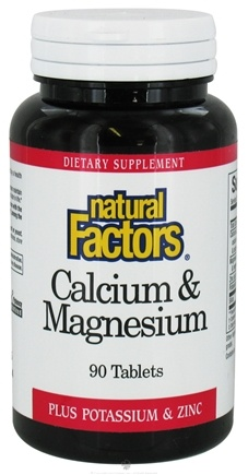 DROPPED: Natural Factors - Calcium & Magnesium - 90 Tablets