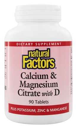 Natural Factors - Calcium & Magnesium Citrate With D - 90 Tablets