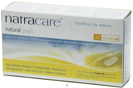 DROPPED: Natracare - Natural Feminine Maxi Pads Slender - 20 Pad(s)