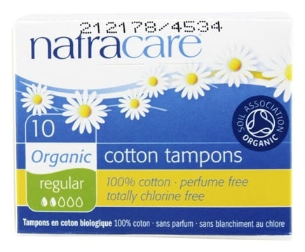 Natracare - Organic 100% Cotton Tampons Regular - 10 Pack(s)
