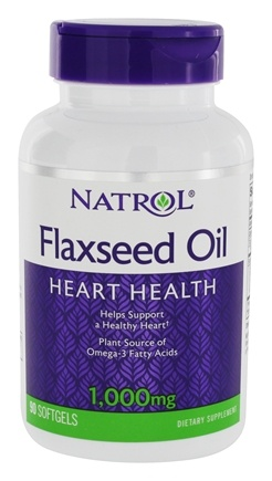 Natrol - Omega-3 Flax Seed Oil 1000 mg. - 90 Softgels