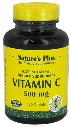 DROPPED: Nature's Plus - Vitamin C Sustained Release Rose Hips 500 mg. - 180 Tablets CLEARANCE PRICED