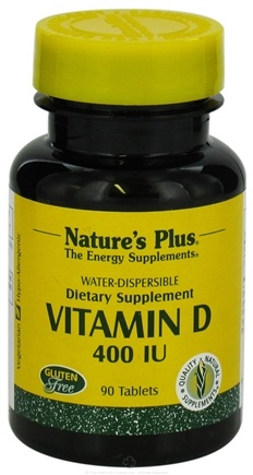 DROPPED: Nature's Plus - Vitamin D 400 IU - 90 Tablets CLEARANCE PRICED