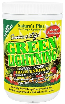 DROPPED: Nature's Plus - Source of Life Green Lightning - 0.5 lbs.