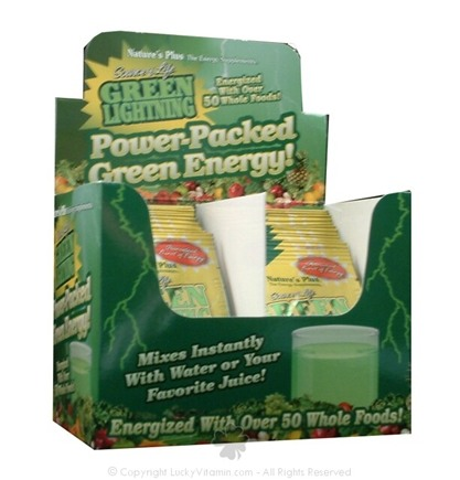 DROPPED: Nature's Plus - Source of Life Green Lightning Energy Drink - 20 Packet(s) CLEARANCE PRICED