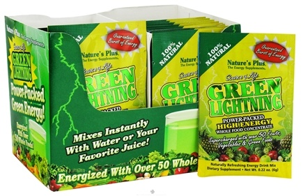 DROPPED: Nature's Plus - Source of Life Green Lightning Energy Drink - 1 Packet CLEARANCE PRICED