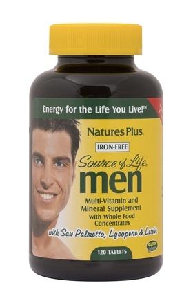Nature's Plus - Source of Life Men Iron-Free - 120 Tablets