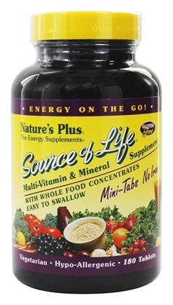 Nature's Plus - Source Of Life Mini Tabs No Iron - 180 Tablets