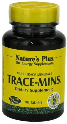 DROPPED: Nature's Plus - Trace-Mins Multi Trace Minerals - 90 Tablets CLEARANCE PRICED