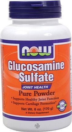 DROPPED: NOW Foods - Glucosamine Sulfate Pure Powder (Superior Joint support) - 6 oz.