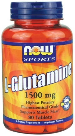 DROPPED: NOW Foods - Glutamine 1500 mg. - 90 Tablets