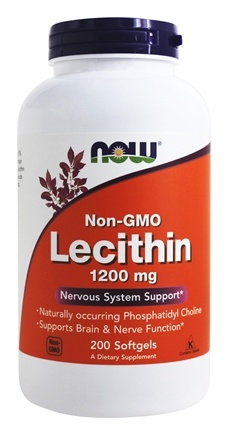 NOW Foods - Lecithin 19 Grain 1200 mg. - 200 Softgels
