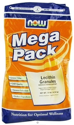 DROPPED: NOW Foods - Lecithin Granules Mega Pack - 10 lbs. CLEARANCE PRICED