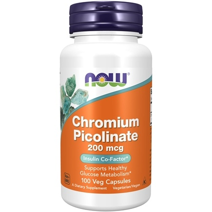 NOW Foods - Chromium Picolinate 200 mcg. - 100 Capsules