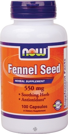 DROPPED: NOW Foods - Fennel Seed 550 mg. - 100 Capsules