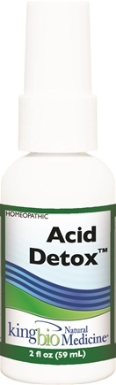 DROPPED: King Bio - Homeopathic Natural Medicine Acid Detox - 2 oz. CLEARANCED PRICED