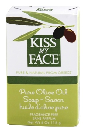 Kiss My Face - Pure Olive Oil Bar Soap Fragrance Free - 4 oz.