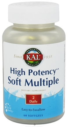 DROPPED: Kal - High Potency Soft Multiple - 60 Softgels