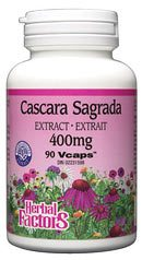 DROPPED: Natural Factors - Cascara Sagrada 400 mg. - 90 Vegetarian Capsules