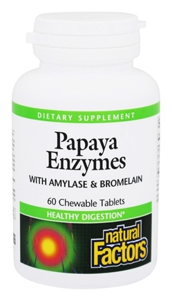 DROPPED: Natural Factors - Chewable Papaya Enzymes - 60 Chewable Tablets