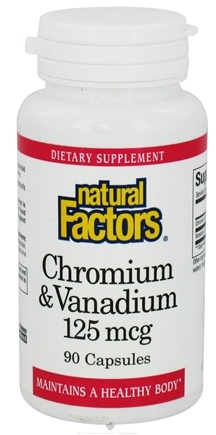 Natural Factors - Chromium & Vanadium 125 mcg. - 90 Capsules