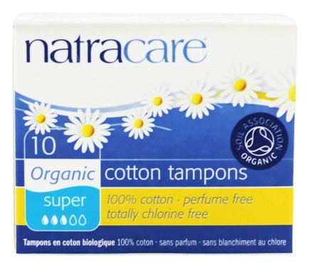 Natracare - Organic 100% Cotton Tampons Super - 10 Pack(s)
