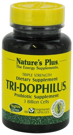 DROPPED: Nature's Plus - Tri-Dophilus - 60 Vegetarian Capsules CLEARANCE PRICED