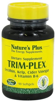 DROPPED: Nature's Plus - Trim-Plex Lecithin Kelp Cider Vinegar & Vitamin B-6 Supplement - 90 Softgels