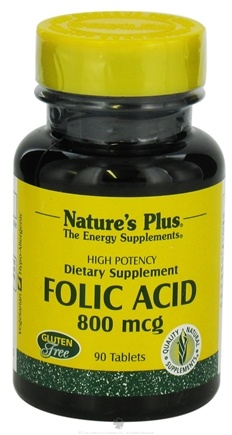 DROPPED: Nature's Plus - Folic Acid 800 mcg. - 90 Tablets CLEARANCE PRICED