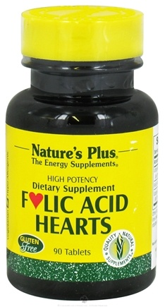 Nature's Plus - Folic Acid Hearts - 90 Tablets