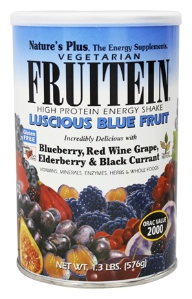Nature's Plus - Fruitein Fruit Shake Vegetarian Luscious Blue Fruit - 1.3 lbs.