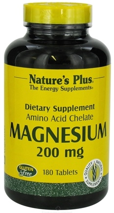 Nature's Plus - Magnesium 200 mg. - 180 Tablets