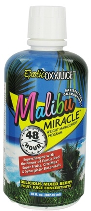 DROPPED: Nature's Plus - Malibu Miracle 48 Hour Weight Management Program Exotic Oxyjuice Delicious Mixed Berry Fruit Juice Concentrate - 30 oz.