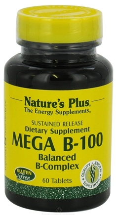 DROPPED: Nature's Plus - Mega B-100 Sustained Release - 60 Tablets
