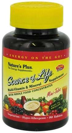 DROPPED: Nature's Plus - Source Of Life Mini-Tabs - 90 Tablets CLEARANCE PRICED
