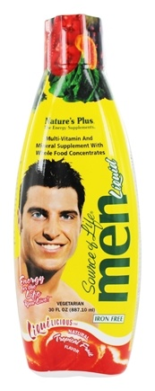 Nature's Plus - Source of Life Multi Vitamin & Mineral Men Tropical Fruit - 30 oz.