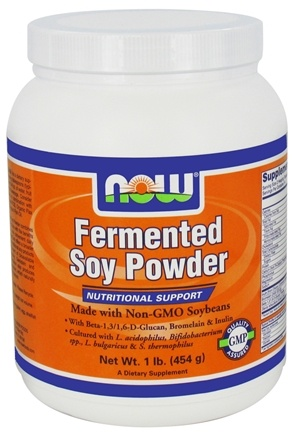 DROPPED: NOW Foods - Fermented Soy Powder - 1 lb.