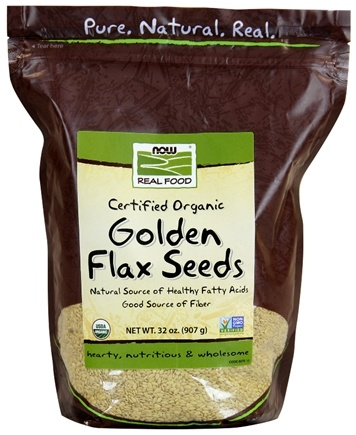 DROPPED: NOW Foods - Golden Flax Seeds - 2 lbs.