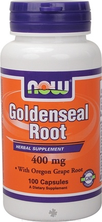 DROPPED: NOW Foods - Goldenseal and Oregon Grape Root 400 mg. - 100 Capsules