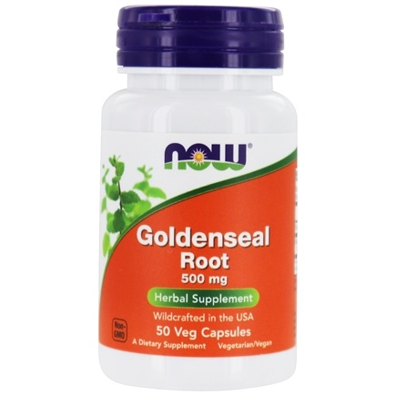 NOW Foods - Goldenseal Root 500 mg. - 50 Capsules