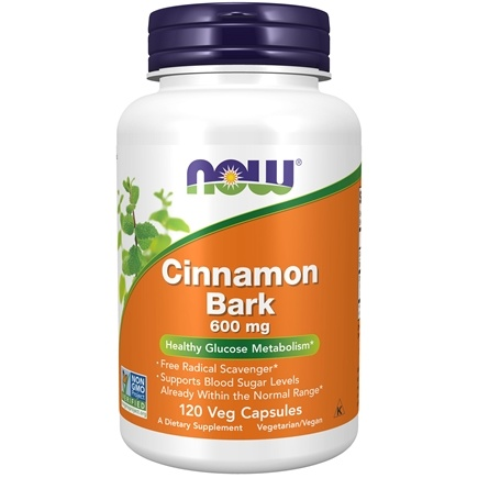 NOW Foods - Cinnamon Bark 600 mg. - 120 Capsules