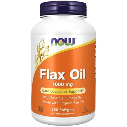 NOW Foods - Flax Oil 1000 mg. - 250 Softgels