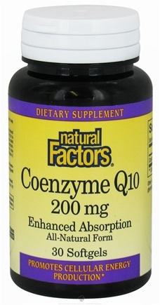 DROPPED: Natural Factors - Co-Enzyme Q-10 Enhanced Absorption 200 mg. - 30 Softgels