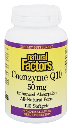 Natural Factors - Coenzyme Q10 Enhanced Absorption 50 mg. - 120 Softgels