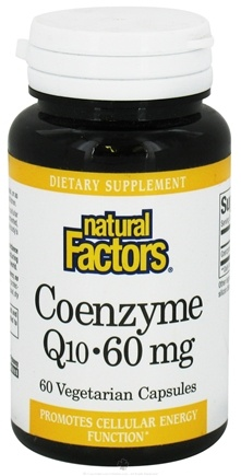 DROPPED: Natural Factors - Coenzyme Q10 60 mg. - 60 Vegetarian Capsules