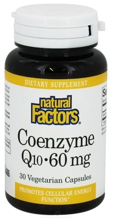DROPPED: Natural Factors - Coenzyme Q10 60 mg. - 30 Vegetarian Capsules CLEARANCE PRICED