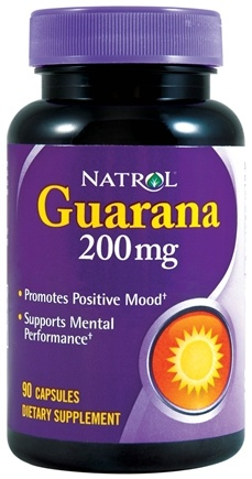 DROPPED: Natrol - Guarana 200 mg. - 90 Capsules