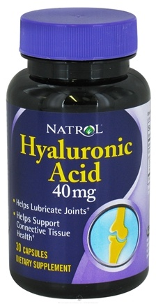 DROPPED: Natrol - Hyaluronic Acid 40 mg. - 30 Capsules CLEARANCE PRICED