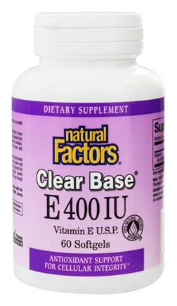 Natural Factors - Clear Base Vitamin E 400 IU - 60 Softgels